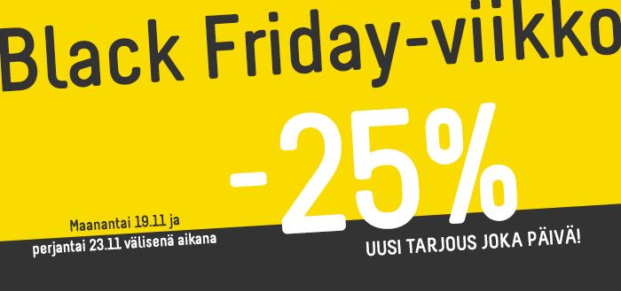 Black Friday -viikko IGO:lla - Uusia tarjouksia joka päivä!